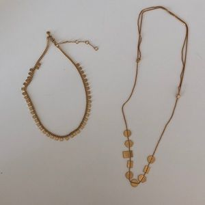 Two madewell shape necklaces